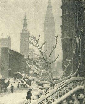 Alfred Stieglitz: Zwei Türme, New York (aus: Camera Work)
