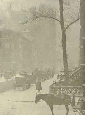Alfred Stieglitz: Straßenszene (aus: Camera Work, 1903-11)