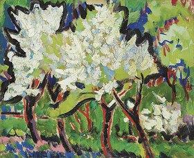 Ernst Ludwig Kirchner: Blühende Bäume IV