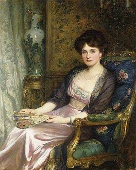 Sir Frank Dicksee: Portrait einer Dame, wohl die Frau des Künstlers