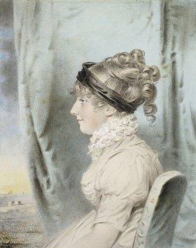 John Downman: Portrait von Eliza Were Holdsworth, im Profil nach links