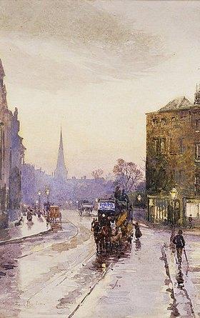 Rose Maynard Barton: Die Nassauer Straße in Dublin bei Regenwetter