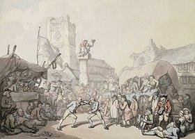 Thomas Rowlandson: Ein Ringkampf in Cornwall