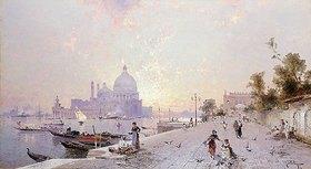 Franz Richard Unterberger: Santa Maria della Salute, Venedig