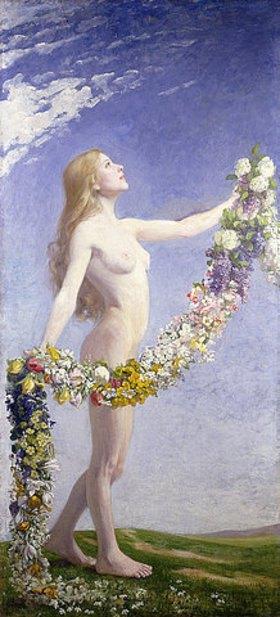 Johann Friedrich Engel: Die Jahreszeiten (Frühling). 1910 (siehe auch Bildnummer 34831-32)