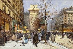 Eugene Galien-Laloue: Der Boulevard St. Denis bei Dämmerung