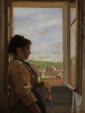 Hans Thoma: Am Fenster