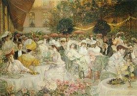 Französisch: In einem Gartenlokal
