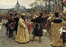 Ilja Efimowitsch Repin: Die Zaren Iwan Alexejewitsch und Pjotr Alexejewitsch von Russland