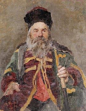 Ilja Efimowitsch Repin: Portrait eines kosakisch Adligen