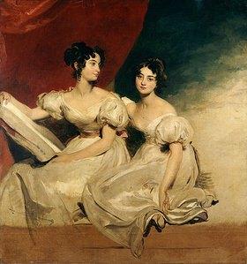 Sir Thomas Lawrence: Doppelbildnis der Fullerton Schwestern in weißen Kleidern