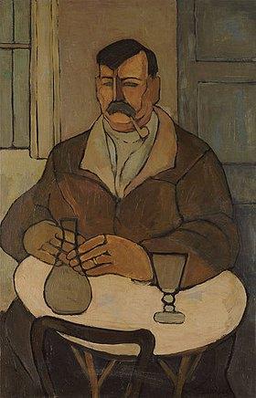 Rafael Perez Barradas: Mann in einem Café