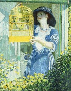 Frederick Karl Frieseke: Der Kanarienvogelkäfig