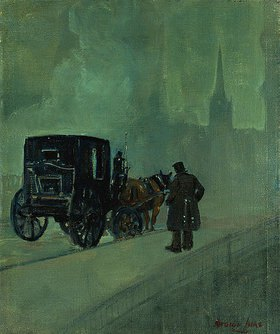 George Benjamin Luks: Nebelige Nacht in New York