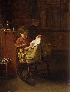 Eastman Johnson: Im Schaukelstuhl (The Boston Rocker)