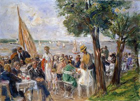 Max Liebermann: Gartenlokal an der Havel