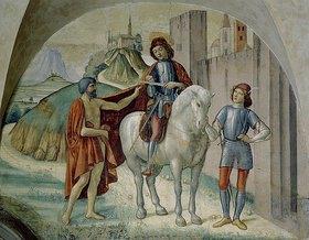 Domenico (T.Bigordi) Ghirlandaio: Der heilige Martin teilt seinen Mantel