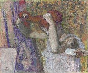 Edgar Degas: Frau beim Frisieren, der Brief
