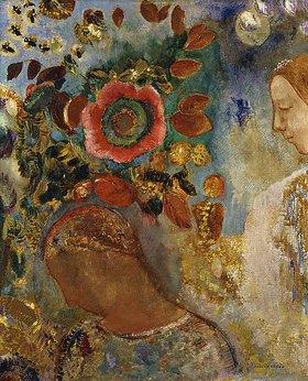 Odilon Redon: Zwei Mädchen mit Blumen