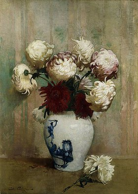 Soren Emil Carlsen: Chrysanthemen in einer asiatischen Vase