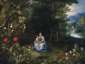 Jan Brueghel d.J.: Madonna mit Kind in einer Waldlandschaft