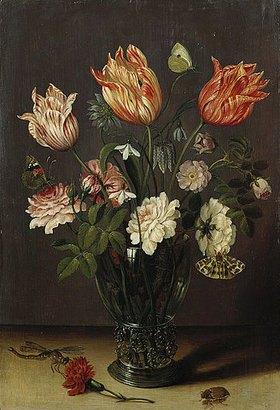 Jan Brueghel d.J.: Tulpen und andere Blumen in einem Glas
