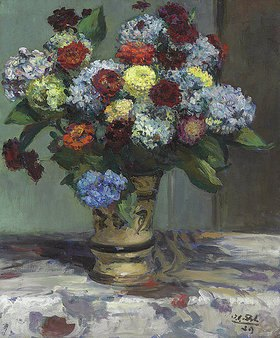 Jacques-Emile Blanche: Blumenstrauß mit Hortensien