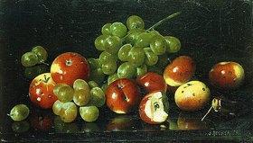 Joseph Decker: Stillleben mit Äpfeln und Trauben