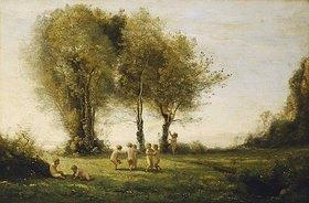 Jean-Baptiste Camille Corot: Liebesreigen, Sonnenaufgang