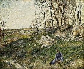 Camille Pissarro: Dei Kräutersammlerin, Pontoise