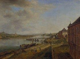 Christian Georg Schütz d.Ä.: Ansicht des Mainzer Rheinufers von der Martinsburg her
