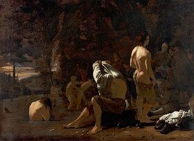 Michael Sweerts: Badende Männer im Abendlicht