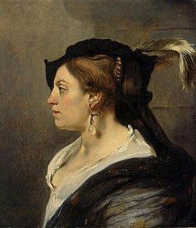 Carel Fabritius: Frau mit Federbarett und Perlenschmuck