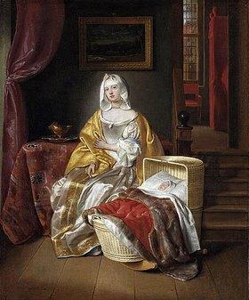 Samuel van Hoogstraten: Mutter an der Wiege