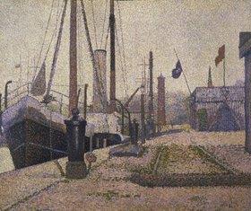 Georges Seurat: Die Maria im Hafen von Honfleur