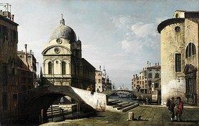 Bernardo (Canaletto) Bellotto: Venezianisches Capriccio mit Ansicht von Santa Maria dei Miracoli. Wohl