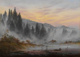 Caspar David Friedrich: Der Morgen. 1. Bild der Folge der 'Vier Tageszeiten'