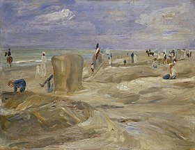 Max Liebermann: Strand bei Noordwijk (mit zwei Reitern)