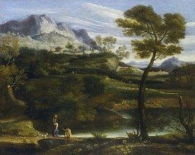 Jean-François Millet: Berglandschaft mit Wasserträgerin
