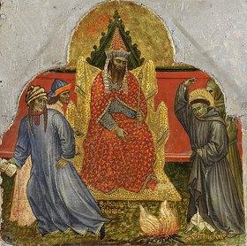 Taddeo di Bartolo: Sechs Darstellungen aus dem Leben des hl. Franz von Assisi: Franziskus vor dem Sultan von Babylonien