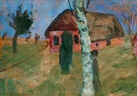 Paula Modersohn-Becker: Rotes Haus mit Birke
