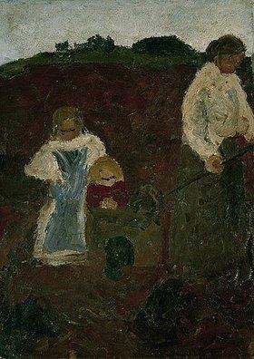 Paula Modersohn-Becker: Frau mit Kindern in der Torfkuhle