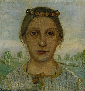 Paula Modersohn-Becker: Bildnis der Schwester der Künstlerin, Herma Weinberg