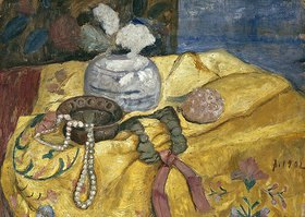 Paula Modersohn-Becker: Stillleben mit Perlen und Vase