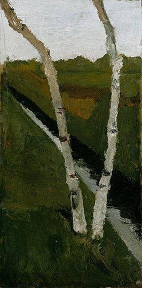 Paula Modersohn-Becker: Zwei Birkenstämme