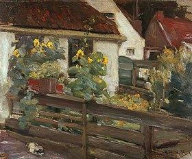 Max Liebermann: Garten mit Sonnenblumen