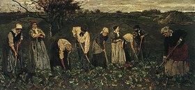 Max Liebermann: Arbeiter im Rübenfeld. 1874/75 begonnen in Barbizon, vollendet