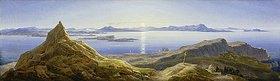 Wilhelm Ahlborn: Küstenlandschaft am Golf von Neapel