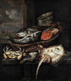 Abraham van Beyeren: Bank eines Fischhändlers