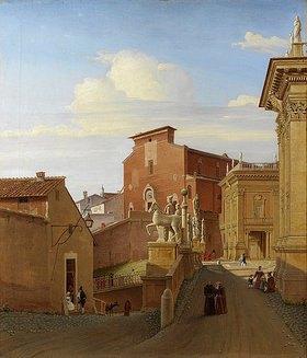 Wilhelm Brücke: Ansicht des Kapitols in Rom